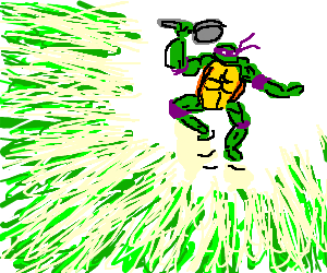 TMNT with a frying pan