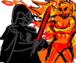 Darth Vader vs. The Human Torch