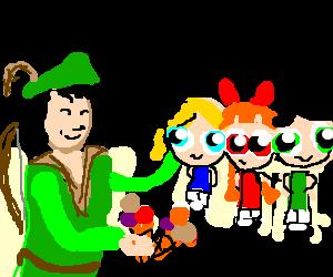 Robin buys the Powerpuff Girls ice cream.