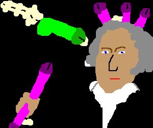 George Washington in a dildo fight