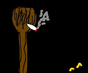 "living broom from ""fantasia"" smokes drug"