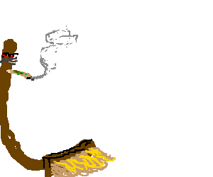 Broomstick smoking joint