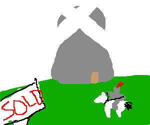 the knight takes a windmill as his new house