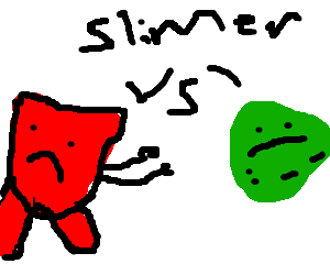 Kool-Aid Man vs. Slimer in a fight to the death
