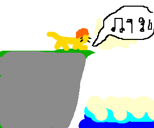 faceless lion sings to the sea