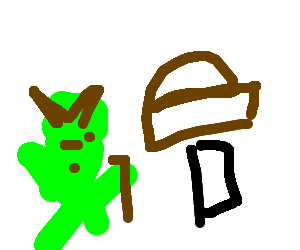 Yoda and the legendary Bread Hammer