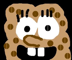 Headshot of happy brown Spongebob