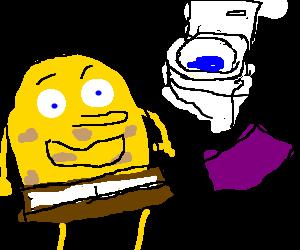 Spongebobs cousin, Toilet Rag John Jake
