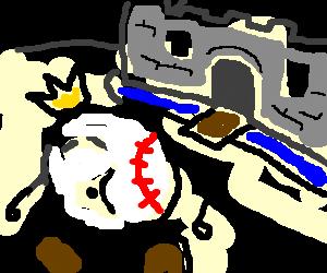 Baseball man leaves his castle