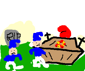 Papa Smurf's funeral