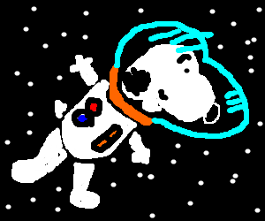 Dog Soars Through Outer Space!