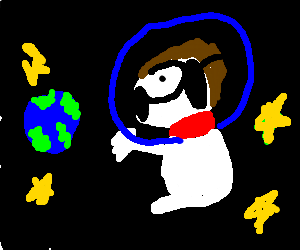 snoopy in the space like a boss
