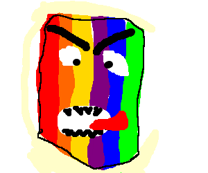 Monsters in the colours of a rainbow
