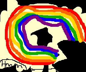 "a rainbow eating itself ""omg i taste delicious"""