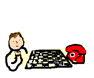 Playing chess with a phone