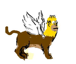 A Griffin with the Head of Homer Simpson