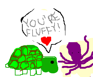 The true love story of Turtle and Fluffy Octopus