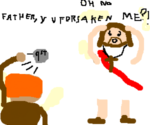First stone is thrown at Jesus