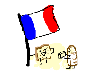 Breads under the france flag
