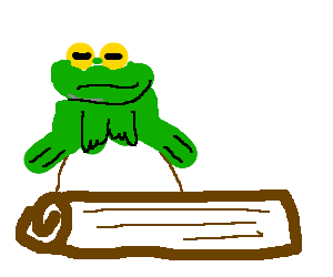 A frog on a bump on a log.