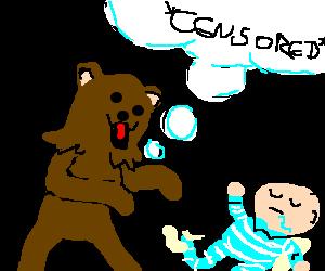 Pedo Bear VS Sleeping Baby