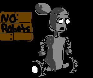 Junkyard robot just wants a friend.