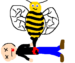 Man killed by giant bee