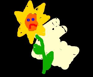 Depressed flower is depressed.
