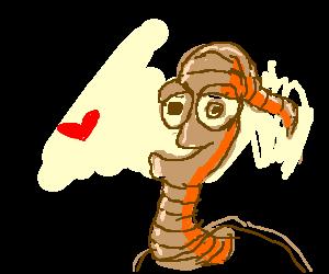 Earthworm Jim falling in love