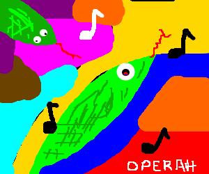 snakes on LSD singing operah