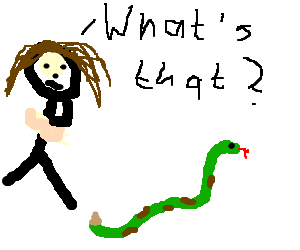 Brunette girl doesn't know what a snake is