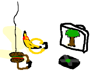 URSS Banana & suspended burger play Tree on XBox