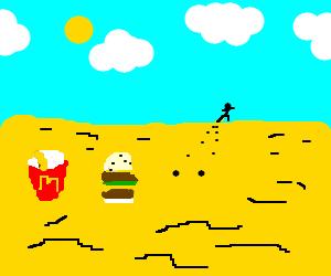 Abandoned half-eaten Big Mac