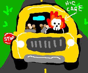 Nicolas Cage is Ghost School Bus Driver