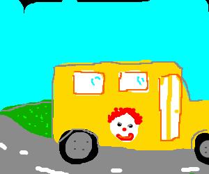 ronald macdonald school bus
