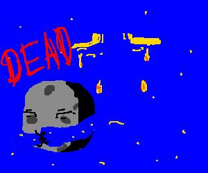 Dead Moon hugged by the sad sky