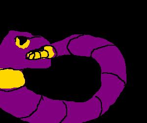 Snake eating himself