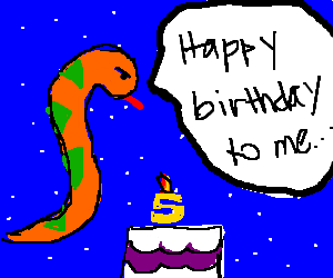 Sky serpent has his birthday alone in the sky