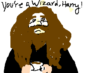 Tea time for Hagrid.