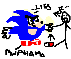 sonic lies to get your drugs