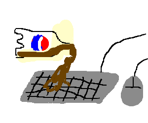 Your pepsi spilled all over your keyboard :(