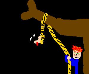 ginger hangs the batman