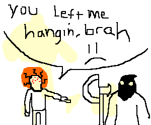 the hanging of a ginger by executioner