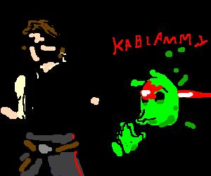 Han Solo shoots begging alien in the face
