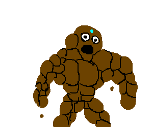 A rock golem is amazed