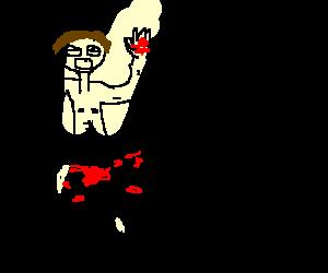 Blörmag chops his thing off.