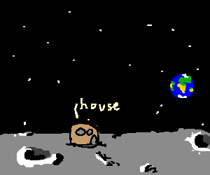 A house on the moon - Drawception