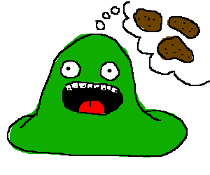 Green blob dreams of potatos