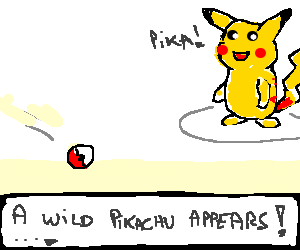 A wild pokemon appears! A Wild Pokemon Appears