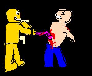 yellow man steals white man's colon